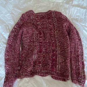Burgundy and White Gap Sweater